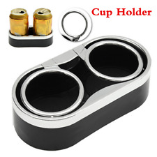 Universal Car Truck Mount Dual Black Cup Holder Drink Bottle Adhesive With Rings