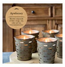 Park Hill Collection Candle APOTHECARY Fragrance Olive Bucket Vintage Parkhill