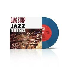 """Gang Starr - Jazz Thing 7"""" Fat Beats Exclusive Blue Vinyl LP x/200 SOLD OUT"""