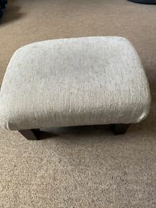 Ivory White / Cream Footstool 32x24x18cm Small Pouffe
