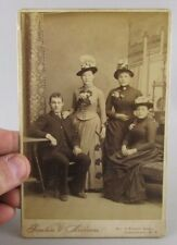 VTG Antique Studio Photo Cabinet Card Family Jamestown Ny New York