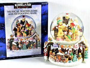 Kirkland Signature Musical Water Globe Revolving Base Gingerbread Man Family