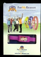 For My Reason Small PINK Silicone Wristband Relay for Life Kodak Photo Paper NIB