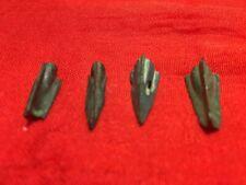 Bronze Age Antique 4 Celtic  Bronze  ARROWHEAD  Arrow N sword Rapier