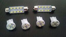 FORD FOCUS XR5 TURBO ROOF INTERIOR LIGHT LED UPGRADE IN WHITE 6 BULBS IN TOTAL