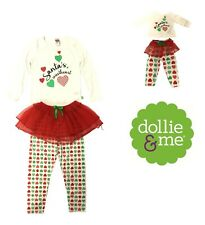 "Dollie & Me Girl Fashion 18"" Doll Dress Matching Outfits Santa's Sweetheart 6x"