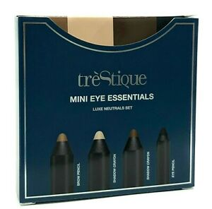 TRESTIQUE MINI EYE ESSENTIALS SET Luxe Neutrals New in Box