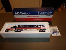 AUTOGRAPHED Ertl Warren Johnson AC Delco Pro Stock Transporter 1:64 Oldsmobile
