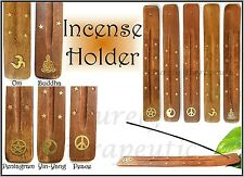 1 INCENSE BURNER~HOLDER~BOAT~Wicca~Magic~Pagan~Om Buddha YinYang~Peace~Pentagram