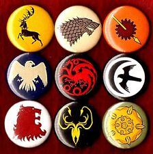 GAME OF THRONES 9 NEW pins buttons badges house stark lannister targaryen