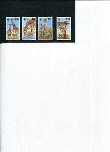1989 WWF KENYA Reticulated Giraffe 4V MNH POST FREE