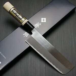 Japanese Tojiro YASUKI SIROGAMI White Steel Nakiri Kitchen Knife Japan F-702A