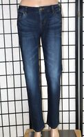 "CABI Women's Size 4 Stretch Straight Leg Whisker Detailing Jeans 31"" Inseam EUC"