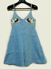 Embroidered chest Denim Camisole Dress