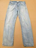 EE110 MENS HILFIGER BLUE WASH STRAIGHT LEG BUTTON FLY DENIM JEANS W32 L31