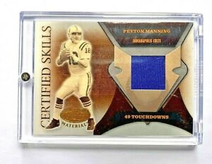 06 LEAF CERTIFIED PEYTON MANNING CERTIFIED SKILLS GAME WORN JERSEY /175 Colts
