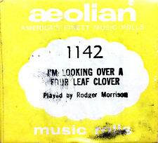 Aeolian I'M LOOKING OVER A FOUR LEAF CLOVER 1142 Morrison Player Piano Roll