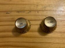 Vintage 1950's 1960's Gibson Gold Bonnet Reflector Volume and Tone Knob