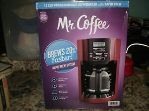 Mr Coffee 12 cup programmable coffee maker with rapid brew NEW Sealed 201872
