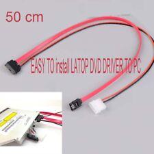 7+6 Pin Slimline SATA Cable for Slim latop SATA DVD CD-RW Drive power cable PC