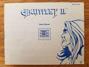 Gauntlet II 2 Original NES Instruction Manual