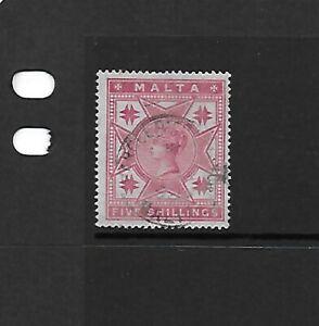 Malta 1886 5/- Rose GU