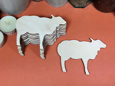 WOODEN RAM  Shapes 10cm(x10) laser cut wood cutouts crafts blank shape