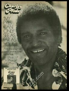 1976 Charley Pride photo The Happiness of Having You album release trade ad