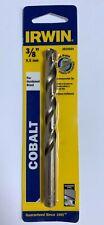 """IRWIN 3/8"""" COBALT DRILL BIT 3016024 SPLIT POINT 5"""" LONG JOBBER HARDENED STEEL"""