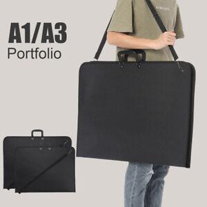 A1 A3 DESIGN PORTFOLIO WATER PROOF BLACK CASE ART WORK PAINTING FOLDER BAG