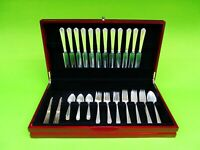 William & Mary by Lunt sterling silver Flatware Service Set  For 12, 62 pieces.