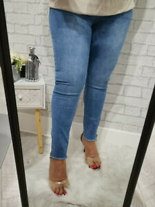 Ladies Womens High Waisted Stretch Denim Pull On Skinny Jeans Jeggings Plus Size