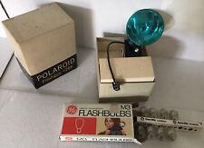 Polaroid Flash Gun #268 With 8M3 Flash Bulbs. OG Box For Both