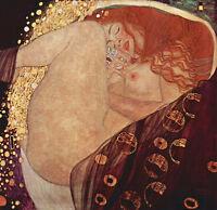 Oil painting Gustav Klimt - Naked girl Female Portrait of Danae HAND PAINTED