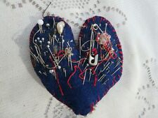 Vintage Handmade Heart Shaped Pin Cushion