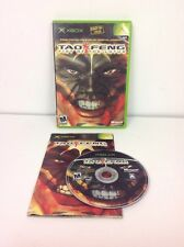 TAO FENG: FIST OF THE LOTUS Xbox game COMPLETE W/ Manual