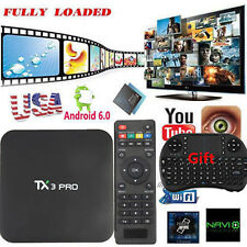 TX3 PRO 4K S905x Quad Core Android6.0 TV Box 16.1 Pre Loaded+Keyboard USA NEW#