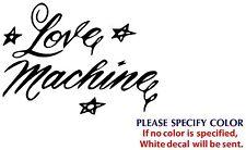 "Love Machine Game TV Graphic Die Cut decal sticker Car Truck Boat Window 7"""