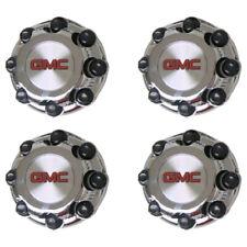 "4 PCS GMC Sierra Yukon VAN 1500 2500 3500 16"" Wheel Center Caps CHROME 8 LUG NEW"