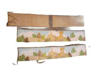 4 Pc Lion King Disney Baby Simba's Wild Adventure Nursery Crib Bumper Pad Set !