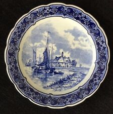 DELFTS Royal Sphinx Maastricht Colbalt Charger Plate  P. Regout  Holland 12""