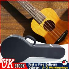 More details for glarry a-style microgroove pattern hard shell carry case for mandolin black ✧
