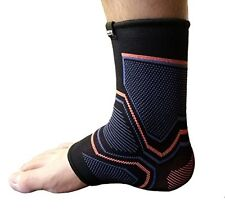 Kunto Fitness Ankle Brace Compression Support Sleeve (Large)
