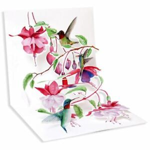 Pop-Up Greeting Card Trearures by Up With Paper - Humming Birds