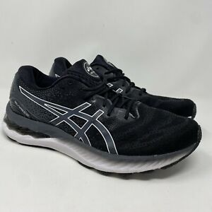 Asics Gel Nimbus 23 Womens Size 10 1012A885 Black Running Shoes Lace Up Low Top