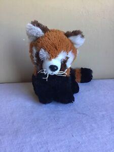 "Generic Unbranded Orange Black Striped Tail Fox Plush Stuffed Animal Toy 8"" Tall"