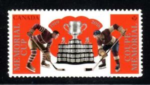 2018 Canada MEMORIAL CUP 🏒🏒Hockey Stamp 📭 From Booklet MNH 📬