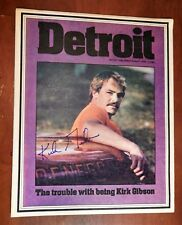 Kirk Gibson  Signed Cover Detroit Free Press DETROIT Magazine April 10, 1983