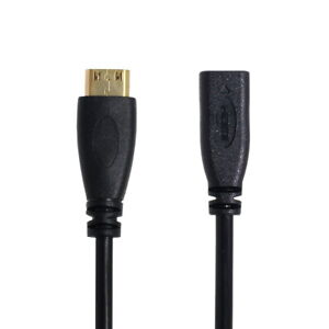 Type D Micro HDMI v1.4 Female to Type C Mini HDMI Male Adapter Cable 10cm