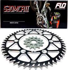 Sprocket Set / Chain Combo Kit Gold Motocross Dirtbike Black 48/14T YZ250 YZ450F